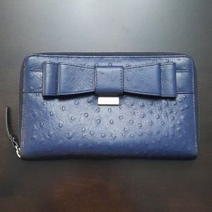 Kate Spade XL Charm City Ostrich Wallet